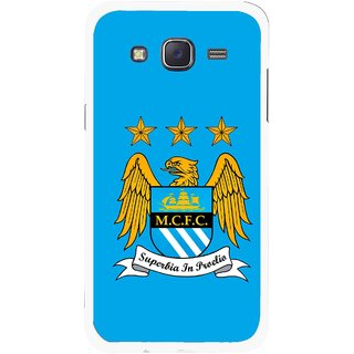 Snooky Printed Eagle Logo Mobile Back Cover For Samsung Galaxy J5 - Blue