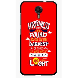 Snooky Printed Happiness Is Every Where Mobile Back Cover For Micromax Canvas Xpress 2 E313 - Red