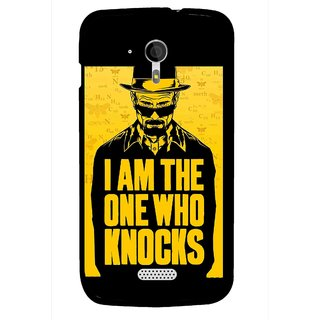 Snooky Printed Who Knocks Mobile Back Cover For Micromax A116 - Black