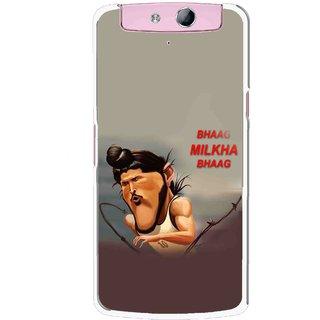 Snooky Printed Bhaag Milkha Mobile Back Cover For Oppo N1 Mini - Multicolour