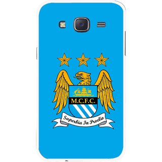 Snooky Printed Eagle Logo Mobile Back Cover For Samsung Galaxy J7 - Blue