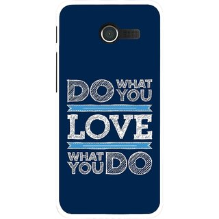 Snooky Printed Love Your Work Mobile Back Cover For Asus Zenfone 4 - Blue