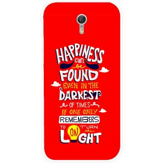 Snooky Printed Happiness Is Every Where Mobile Back Cover For Lenovo Zuk Z1 - Red