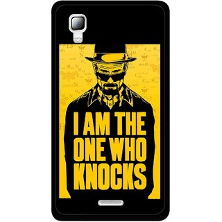 Snooky Printed Who Knocks Mobile Back Cover For Micromax Canvas Doodle 3 A102 - Black