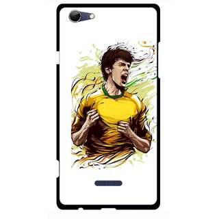 Snooky Printed I Win Mobile Back Cover For Micromax Canvas Selfie 3 Q348 - Multi