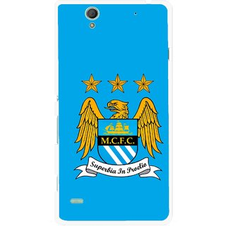 Snooky Printed Eagle Logo Mobile Back Cover For Sony Xperia C4 - Blue