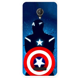 Snooky Printed America Sheild Mobile Back Cover For Micromax Canvas Spark Q380 - Multicolour