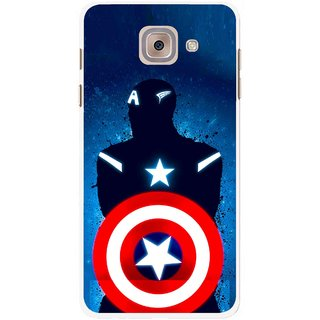 Snooky Printed America Sheild Mobile Back Cover For Samsung Galaxy J7 Max - Multicolour