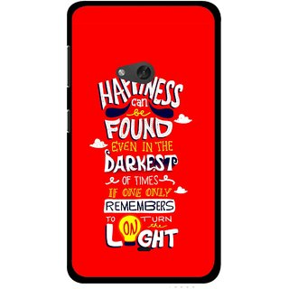 Snooky Printed Happiness Is Every Where Mobile Back Cover For Nokia Lumia 625 - Red