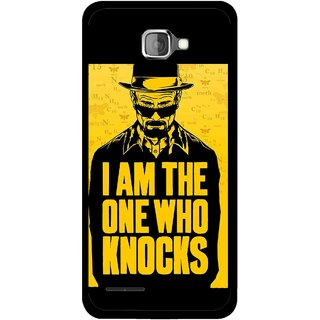 Snooky Printed Who Knocks Mobile Back Cover For Micromax Canvas Mad A94 - Black