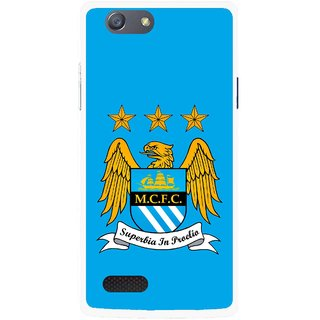 Snooky Printed Eagle Logo Mobile Back Cover For Oppo Neo 7 - Blue