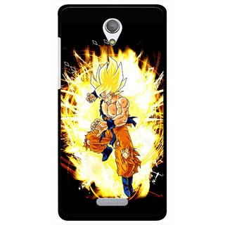 Snooky Printed Angry Man Mobile Back Cover For Gionee Marathon M4 - Black