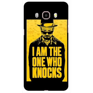 Snooky Printed Who Knocks Mobile Back Cover For Samsung Galaxy J5 (2017) - Black