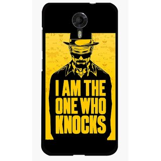 Snooky Printed Who Knocks Mobile Back Cover For Micromax Canvas Xpress 2 E313 - Black