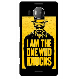 Snooky Printed Who Knocks Mobile Back Cover For Microsoft Lumia 950 XL - Black
