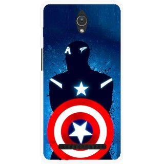 Snooky Printed America Sheild Mobile Back Cover For Asus Zenfone C - Multicolour