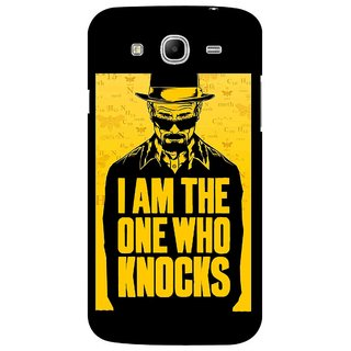 Snooky Printed Who Knocks Mobile Back Cover For Samsung Galaxy Mega 5.8 - Black