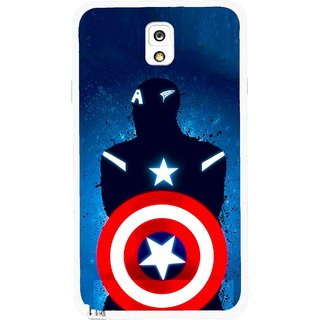Snooky Printed America Sheild Mobile Back Cover For Samsung Galaxy Note 3 - Multicolour