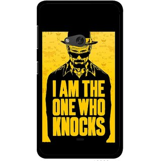 Snooky Printed Who Knocks Mobile Back Cover For Nokia Lumia 625 - Black