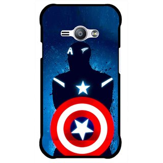Snooky Printed America Sheild Mobile Back Cover For Samsung Galaxy Ace J1 - Multicolour