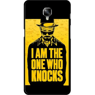 Snooky Printed Who Knocks Mobile Back Cover For OnePlus 3 - Black