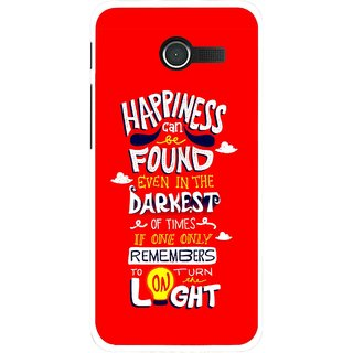 Snooky Printed Happiness Is Every Where Mobile Back Cover For Asus Zenfone 4 - Red