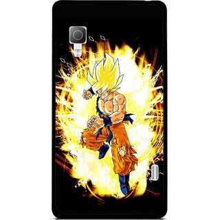 Snooky Printed Angry Man Mobile Back Cover For Lg Optimus L5II E455 - Black
