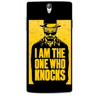 Snooky Printed Who Knocks Mobile Back Cover For Oppo Find 5 Mini - Black