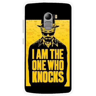 Snooky Printed Who Knocks Mobile Back Cover For Lenovo K4 Note - Black