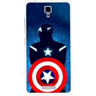 Snooky Printed America Sheild Mobile Back Cover For Gionee Pioneer P4 - Multicolour