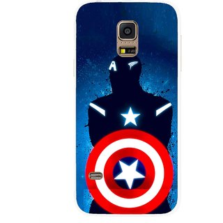 Snooky Printed America Sheild Mobile Back Cover For Samsung Galaxy S5 Mini - Multicolour