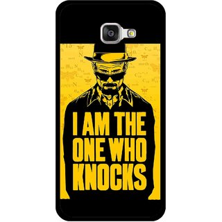 Snooky Printed Who Knocks Mobile Back Cover For Samsung Galaxy A3 (2016) - Black