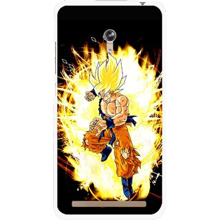 Snooky Printed Angry Man Mobile Back Cover For Asus Zenfone 6 - Black