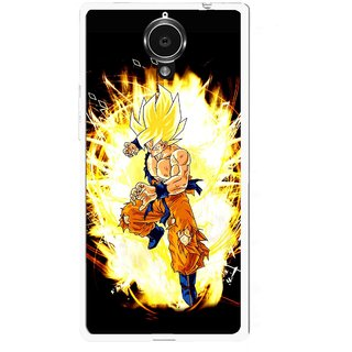 Snooky Printed Angry Man Mobile Back Cover For Gionee Elife E7 - Black