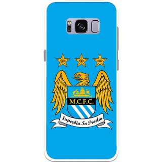 Snooky Printed Eagle Logo Mobile Back Cover For Samsung Galaxy S8 - Blue