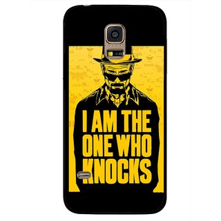 Snooky Printed Who Knocks Mobile Back Cover For Samsung Galaxy S5 Mini - Black