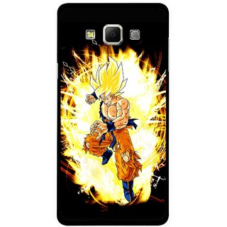 Snooky Printed Angry Man Mobile Back Cover For Samsung Galaxy E5 - Black