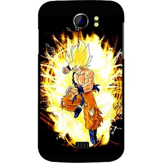 Snooky Printed Angry Man Mobile Back Cover For Micromax Canvas 2 A110 - Black