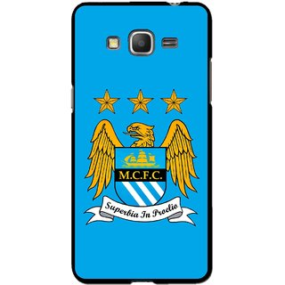 Snooky Printed Eagle Logo Mobile Back Cover For Samsung Galaxy Grand Max - Blue