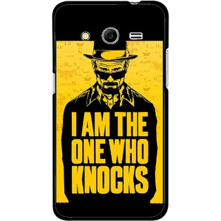 Snooky Printed Who Knocks Mobile Back Cover For Samsung Galaxy G355 - Black