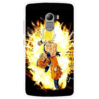 Snooky Printed Angry Man Mobile Back Cover For Lenovo K4 Note - Black