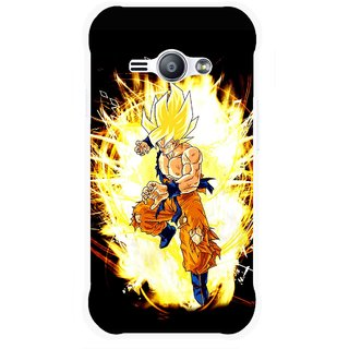 Snooky Printed Angry Man Mobile Back Cover For Samsung Galaxy Ace J1 - Black