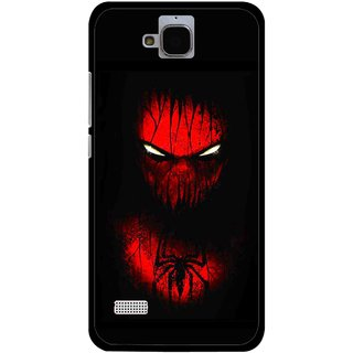 Snooky Printed Spider Eye Mobile Back Cover For Huawei Honor Holly - Black
