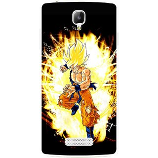 Snooky Printed Angry Man Mobile Back Cover For Oppo Neo 3 R831k - Black