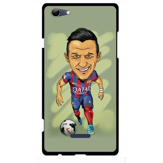 Snooky Printed Hara ke Dikha Mobile Back Cover For Micromax Canvas Selfie 3 Q348 - Multi