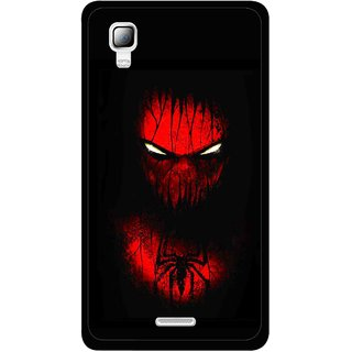 Snooky Printed Spider Eye Mobile Back Cover For Micromax Canvas Doodle 3 A102 - Black