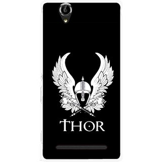 Snooky Printed The Thor Mobile Back Cover For Sony Xperia T2 Ultra - Black