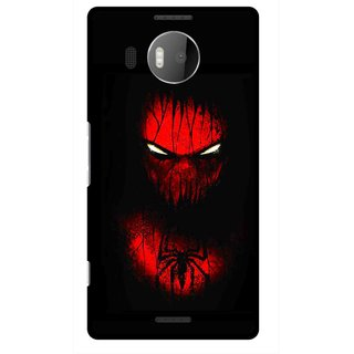 Snooky Printed Spider Eye Mobile Back Cover For Microsoft Lumia 950 XL - Black