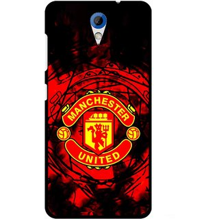 Snooky Printed Red United Mobile Back Cover For HTC Desire 620 - Red