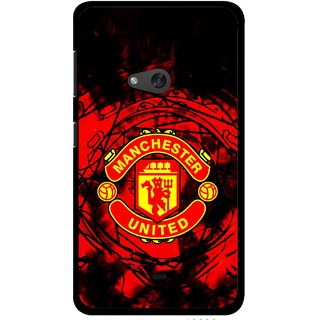 Snooky Printed Red United Mobile Back Cover For Nokia Lumia 625 - Red